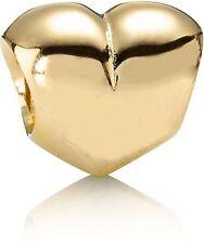 AUTHENTIC PANDORA HEART 14K GOLD CHARM BRAND NEW #750119 RETIRED