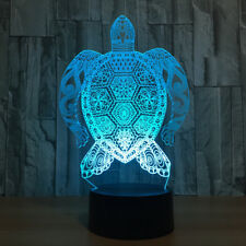 Kid's Gifts 3D LED 7-Color Night Light Table Lamp Touch switch Sea Turtles