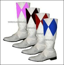 Power Ranger Boots MMPR - Custom Made! Red White Green Blue Black Pink Yellow