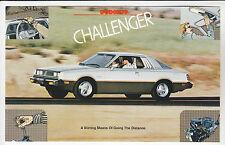 1979 DODGE CHALLENGER Hatchback GT Ad Card POSTCARD Unused New Vintage Old Stock