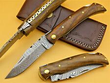 Damastmesser-Taschenmesser-Klappmesser-Laguiole-Damast-Holzgriff +Tasche (AB907)