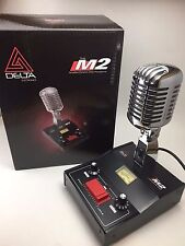 DELTA M2 AMPLIFIED DYNAMIC POWER BASE MICROPHONE 4 pin Cobra CB HAM DESK MIC
