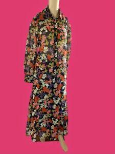 ADOLFO VTG Psychedelic MOD Floral Dress Set Skirt Blouse Top Size Medium