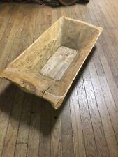 Early Primitive 1-Piece Wood Rectangular Dough Bowl  ~ PR515