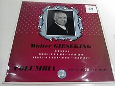 Beethoven Pathetique Moonlight Sonata Walter Gieseking EX Vinyl Record 33SX 1073
