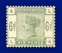 1884 SG194 6d Dull Green K24 LA Mounted Mint Hinged Cat £625 bbpf