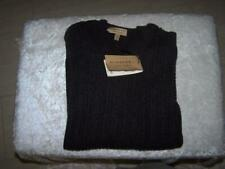 NWT BURBERRY MENS SWEATER SIZE L XL CASHMERE GREY CABLE SWEATER $695