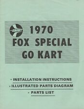 1970 FOX SPECIAL GO KART OWNERS & PARTS MANUAL (336)