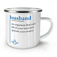Husband Organism NEW Enamel Tea Mug 10 oz | Wellcoda