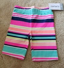 New Carter's Striped Bike Shorts - Pink, Green, Blue, White- NWT- 2T