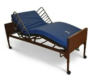 HOSPITAL BED, ELECTRIC WITH AIR MATTRESS & SIDE RAILS S/N TPM90500916