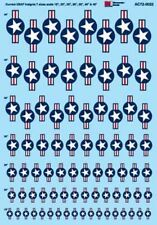 """Microscale Decals 1/48 Current USAF Insignia with Red Stripes - 15"""", 20"""", 25"""", 3"""