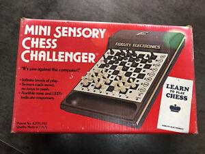 Vintage MINI Sensory CHESS CHALLENGER «FIDELITY ELECTRONICS» Fonctionnel Ok Rare