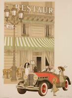 Original Vintage Poster - Noyer Denis-Paul - Café de la Paix - Paris - 1979