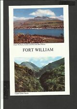 Vintage  Colour Postcard Duel View Ben Nevis Fort William Inverness-Shire unpost