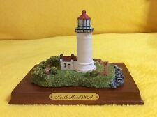 Premier Edition Cherry Wood Base Lighthouse Nautical Figurine North Head Wa