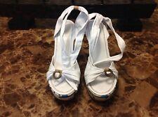 White Wedge Sandals(8)