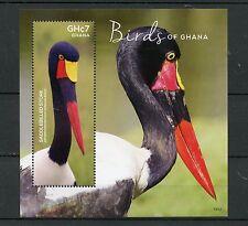 Ghana 2015 MNH Birds of Ghana 1v S/S Saddlebilled Stork