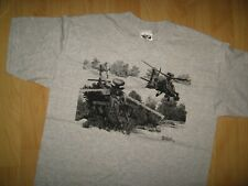 Nick Perriello 1995 Helicopter T Shirt Large - Vintage Military Artist Wingman