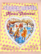 Sheet Music Magazine Musical Valentines Piano Guitar Voice Islands in the Stream