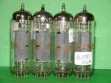 "Quad Hammond Amperex EL84 6BA5 Big Halo Getter Vacuum Tubes Very Strong ""rx4"""