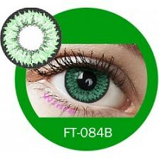 Lentilles de couleur vert 3 tons FT084B - green color contact lenses