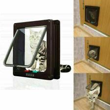 4 Way Lockable Dog Cat Kitten Door Security Flap Door Lockable Safety Gate S L