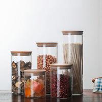 Vorratsglas Vorratsgläser Vorratsdosen Glasbehälter mit Bambus Deckel 4 Größen ❤