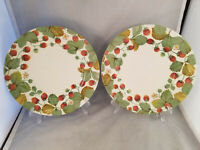 Set of 2 Royal Stafford Wildberry (Strawberries) Dinner Plates