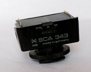 Metz SCA 343 adapter to fit Nikon Manual focus cameras.