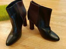 CAbi Heels Leather Zip Ankle Shoes SZ 10 NEW #6004
