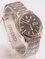 SNKK71K1 SEIKO 5 Stainless Steel Band Automatic Men's Black Watch Brand New !!