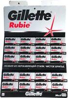 100 Gillette Rubie Platinum double edge razor blades
