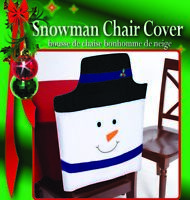Cute Christmas Snowman Felt Chair Cover 1 Pc Dinner Table Seat Holiday Decor