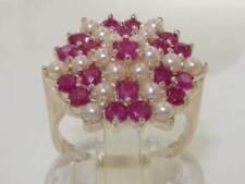 Pearl Ruby Sterling Silver Fine Jewellery