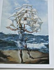 Salvador Dali Poster of Ship Tristan the Insane  14x11