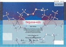 Degussa-Hüls Frankfurt dekor. Aktie 1999 Evonik Industries Essen Marl Hessen