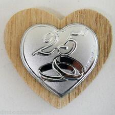 Bomboniere confettate calamite 25° anniversario nozze d'argento made in italy
