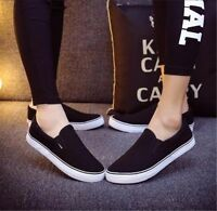Men's Women's Canvas Shoes Espadrilles Plimsolls Casual Slip on Sneakers Fashion