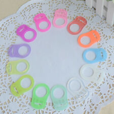 10 Silikon-Adapter-Ringe für Baby-Schnuller-Bandketten Klarer Schnuller-Clip.DE