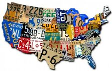 VERY LARGE United States License Plate Metal Sign USA America Wall Art 5ft x 3ft