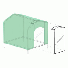HoundHouse Clear Plastic flap for Dog Kennel Small/Medium/Large/Extra Large