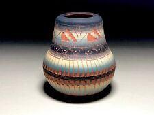 Navajo Pottery Signed AM '94 Red Clay Native American Vase Pot