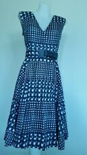 David Lawrence Blue White stripe cotton dress Size 8 RRP: $289