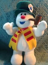"""NOS 2003 NEW ADVENTURES MUSICAL 13"""" PLUSH SNOWMAN PLAYS """"FROSTY THE SNOWMAN"""""""