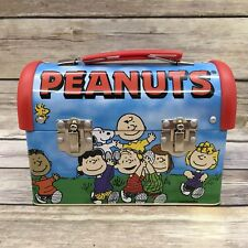Peanuts Gang Tin Dome Lunch Box - Snoopy Charlie Brown