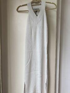 BNWT Allsaints Orro Porcelain White Knitted Dress Size M