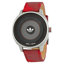 Adidas San Francisco Black Dial Mens Red Nylon Watch ADH3153