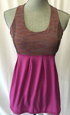 "LULULEMON tank top""power dance"" sports bra Pink great for mom's size 4"