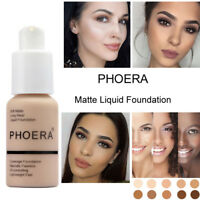 Phoera Foundation Makeup Full Coverage Liquid Long Lasting Shade Base Brighten